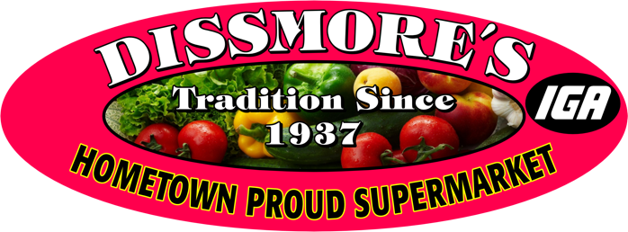 A theme logo of Dissmore's IGA